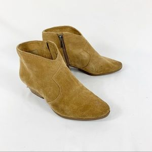 Vince Camuto Tan Suede Cider Ankle Booties Leather